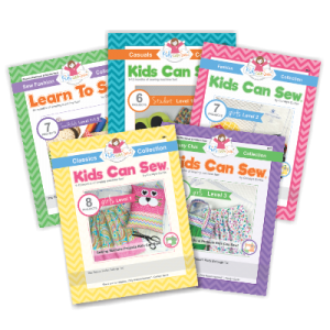 kids can sew sewing curriculum workbooks levels 1-3